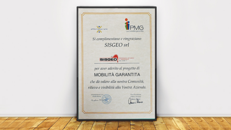 Sisgeo is one of the sponsor of the Guaranteed Mobility Project