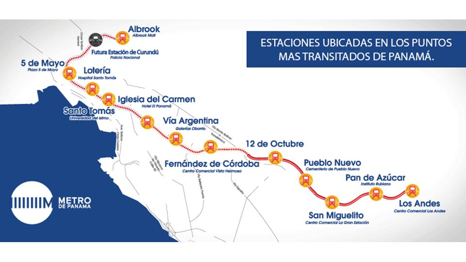 Panama Subway Map.Panama City Metro Project Sisgeo