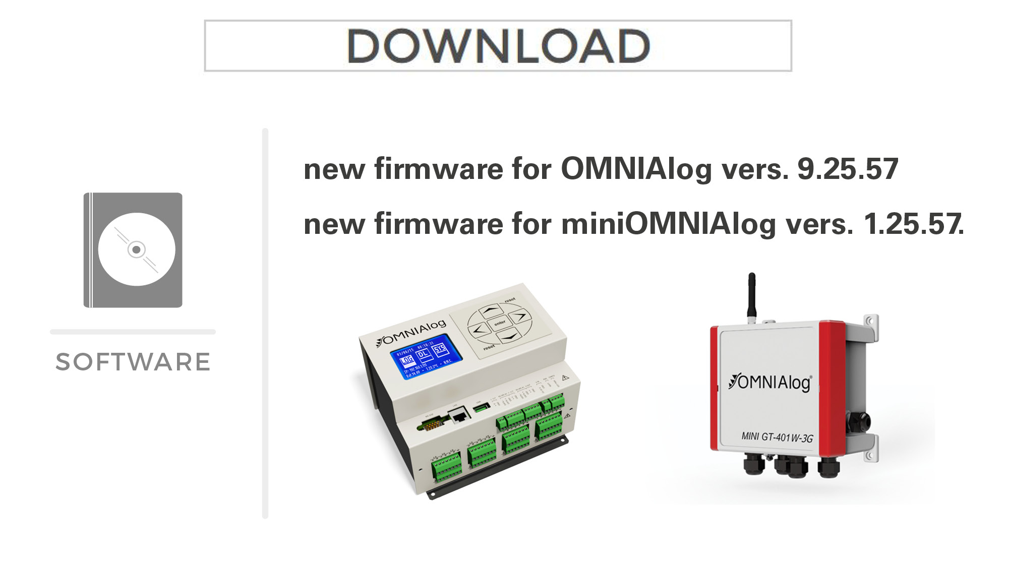 New firmware for OMNIAlog and MiniOMNIAlog